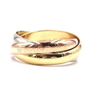 Cartier Classic 18K Tri-Color Trinity Ring